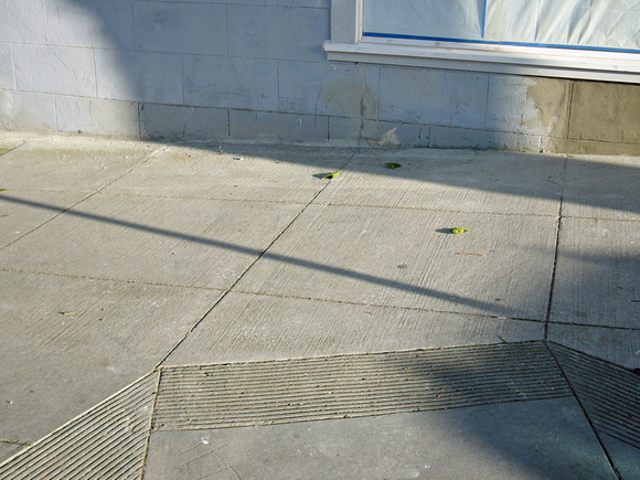 Sidewalk detail, Sanchez and Duboce Sts.